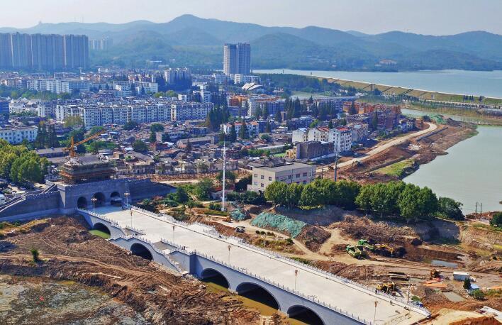 南谯北路桥主体完工