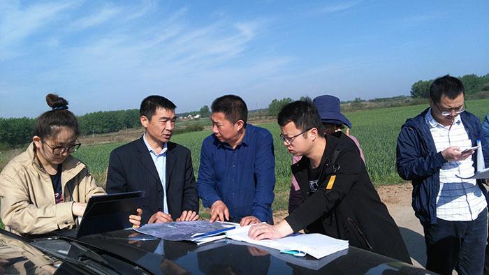 省自然资源厅组织对合新铁路项目建设用地开展实地踏勘论证